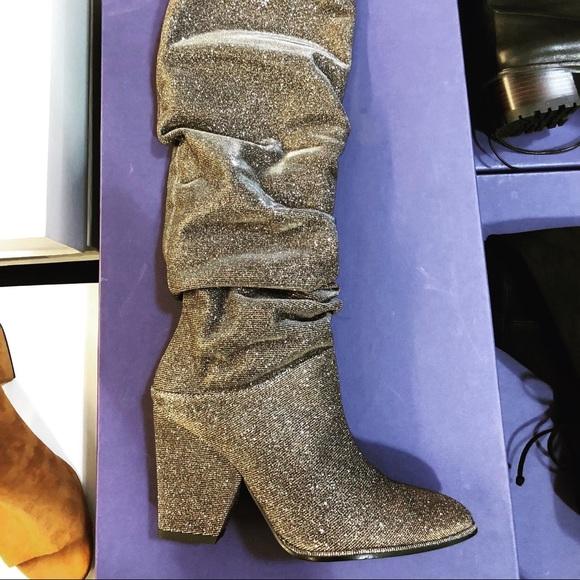 Stuart Weitzman Glitter Boots 6 2 Brand